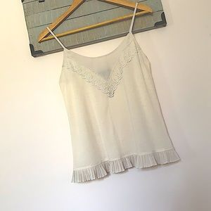 American Eagle cream tank top with adjustable straps